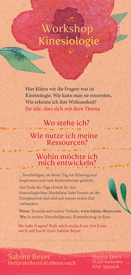 Selbsterfahrung in Karlsruhe mit Kinesiologie